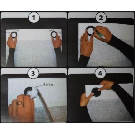 Comment poser des oeillets les tissus d 39 isa mibel sarl for Mettre un rideau sur un meuble